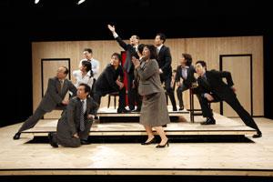 青年団国際演劇交流プロジェクト2009 日仏交流企画 『鳥の飛ぶ高さ』 京都公演(2009) ©清水俊洋 SHIMIZU Toshihiro